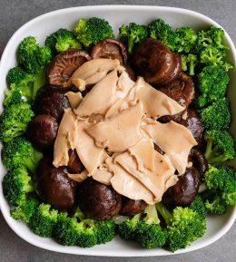 翠玉燴福氣菇